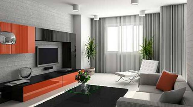 The ideas modern curtain for your perfect living room for Contemporary window treatments for living room