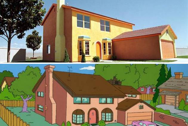 Amazing Real Houses by Favorites Cartoons