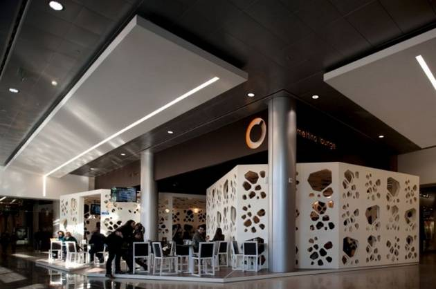 interior public spaces in shopping center updated home