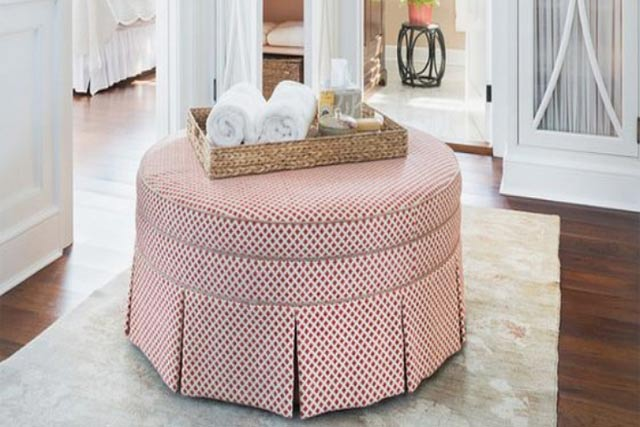 Round Ottoman As Hidden Storage