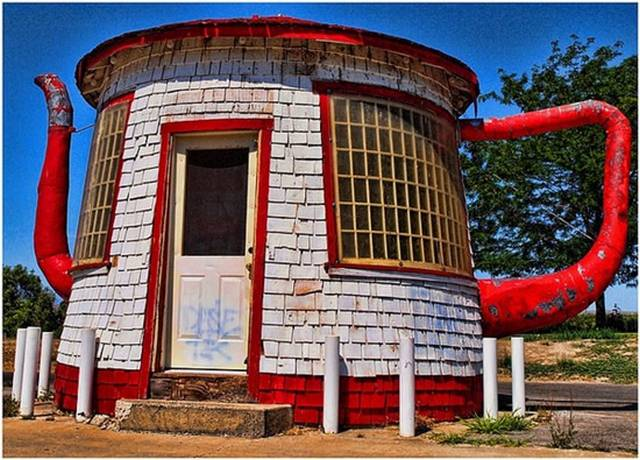 teapot dome gas station unique architecture updated home