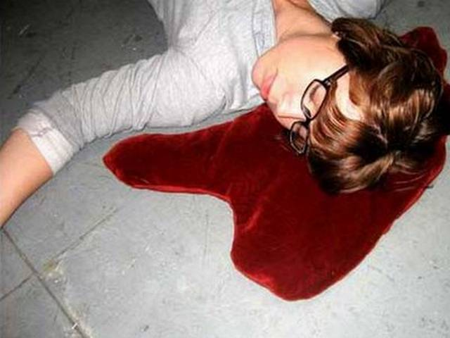 Blood-Puddle-Pillow