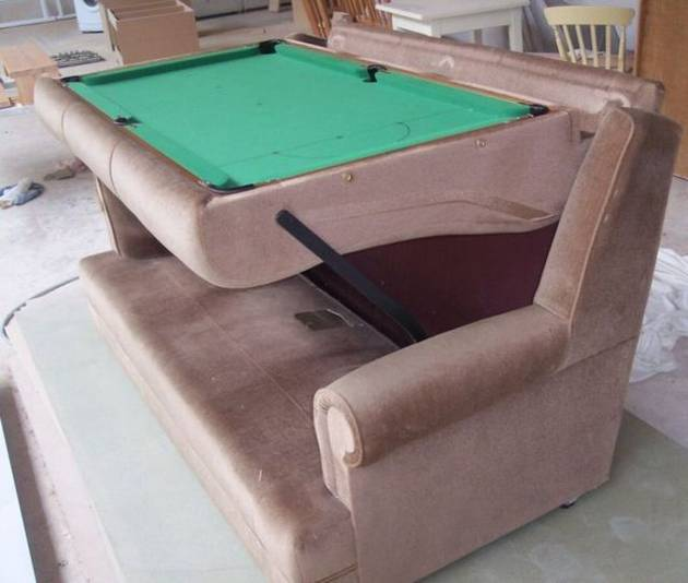 Sofa Cum Pool Table A Unique Invention - Travel pool table