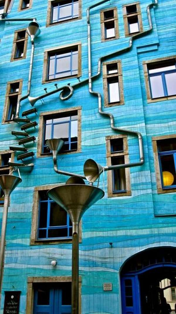 The Building with the sound of rain Dresden Germany 4