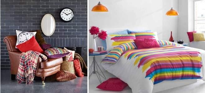 cushions blankets
