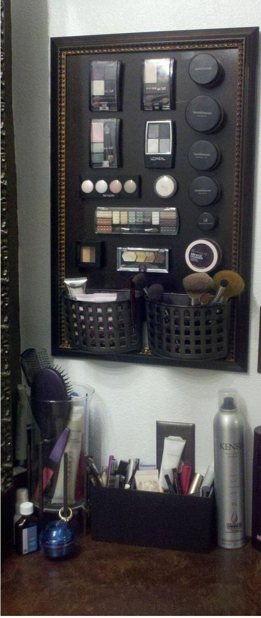 makeup in one cabinet