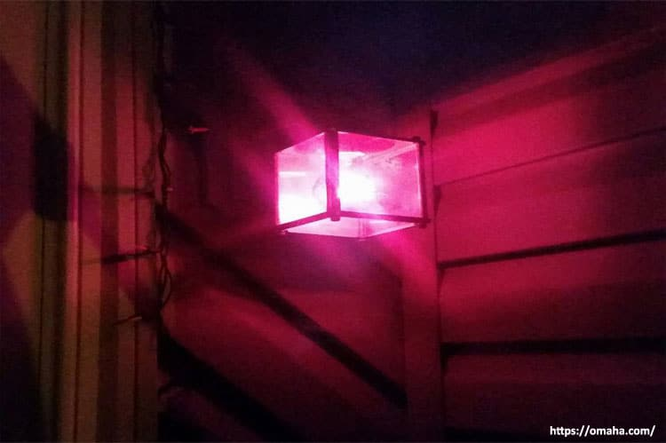 Pink Porch Light