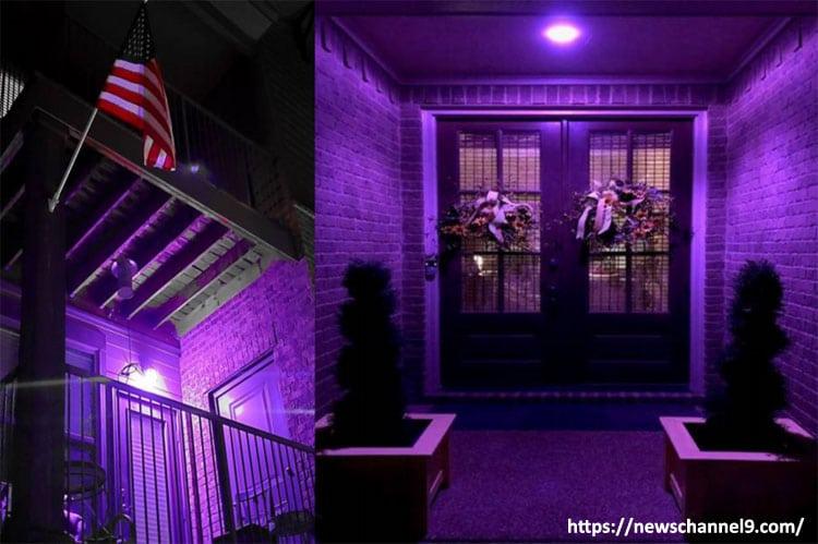 Purple Porch Lights